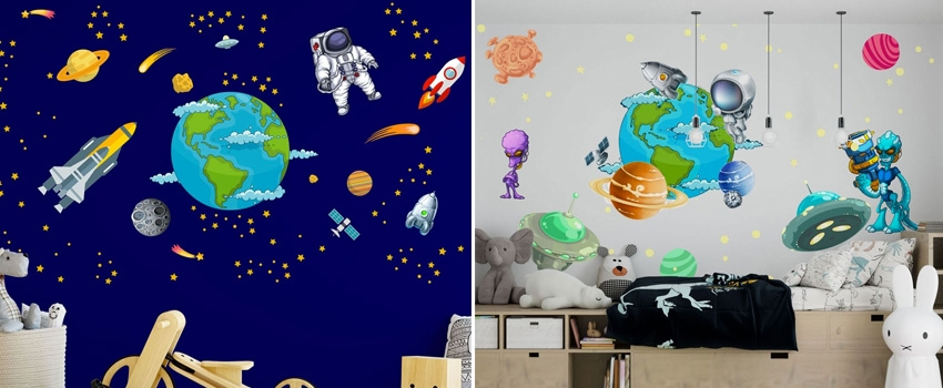 Start Decorating Your Interior With Space Wall Stickers?