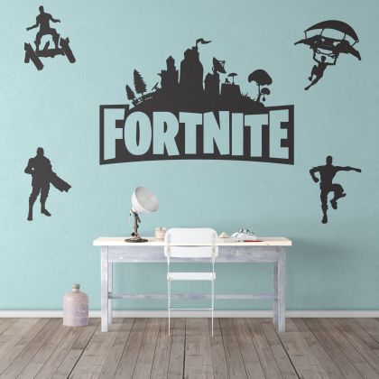 Fortnite Logo & Characters Wall Decor Vinyl Sticker