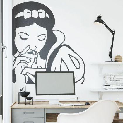 Vintage Art Spoof Pin-up Snow White Wall Decal