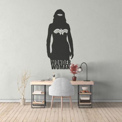 Wonder Women Silhouette Wall Decal for Girls Bedroom