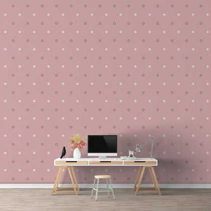 Mixed Colour Dots and Outlined Polka dot Wall Decals Pattern Vinyl Wall Wall Sticker