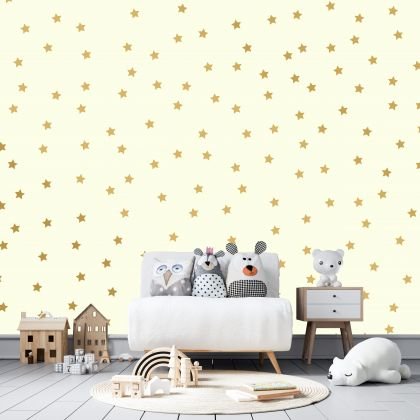 Metallic Gold Star Wall Decals Pattern Vinyl Wall Sticker