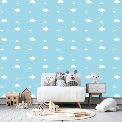 Mixed Size Cloud Wall Decals Pattern Vinyl Wall Wall Sticker