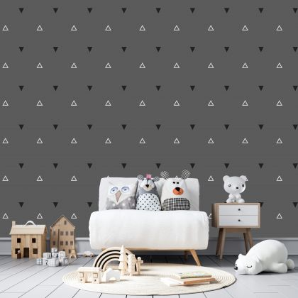 Filled and Outlined Triangle Wall Decals Pattern Vinyl Wall Wall Art