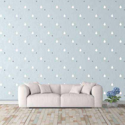 Mixed Size Raindrop Wall Decals Pattern Vinyl Wall Wall Art