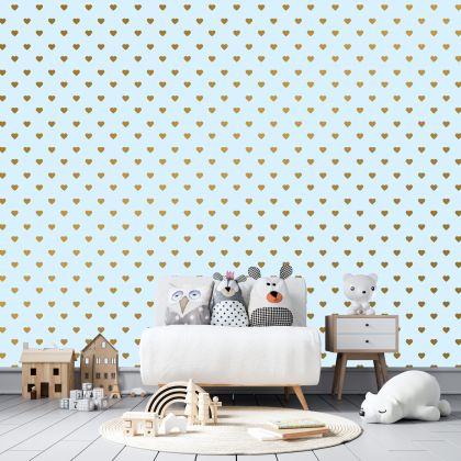 Metallic Gold Heart Wall Decals Pattern Vinyl Wall Wall Art