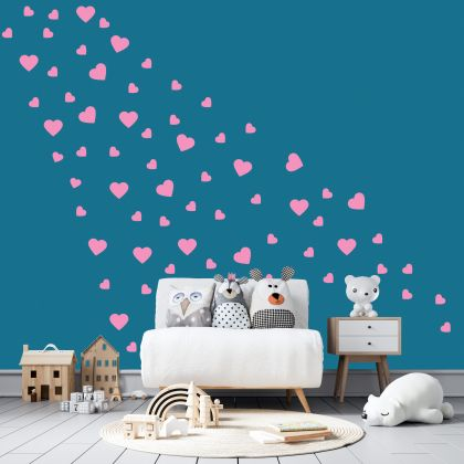 Mixed Size Heart Wall Decals Pattern Vinyl Wall Wall Sticker