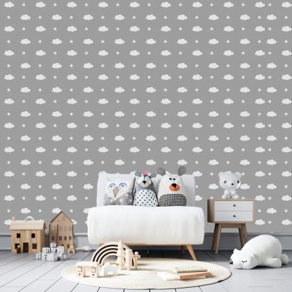 Cloud and Stars Wall Decals Pattern Vinyl Wall Wall Sticker