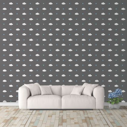 Cloud and Stars Wall Decals Pattern Vinyl Wall Wall Art