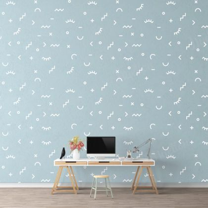 Random Shapes Nursery Wall Decals with 7 Unique Shapes