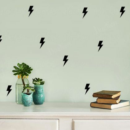 Lightning Bolt Wall for Sticker Decals