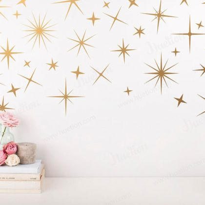 Sparkle Wall Decals for Star Wall Decor