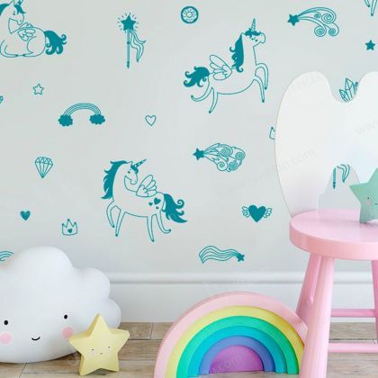 Magical Unicorn for wall decal