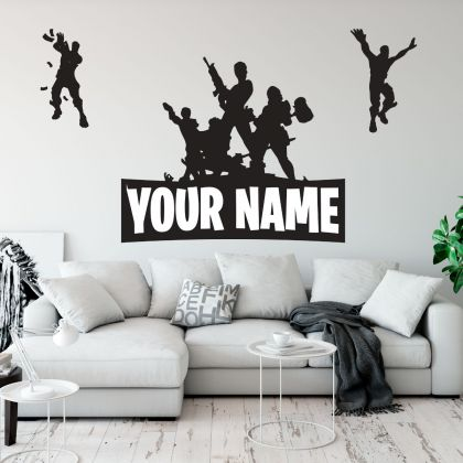 Personalized Fighting Fortnite Vinyl Wall Sticker