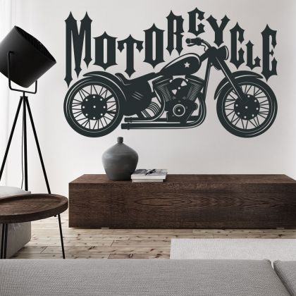 King Ride Motorcyle Vinyl Wall Stickers