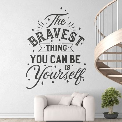 Be Yourself Workplace Motivational Quote Vinyl Wall Sticker , Motivational wall decal for Office