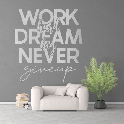 Dream Big Motivational Workplace Quote Vinyl Wall Sticker