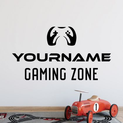 Personalized Name Wall Stickers for Gaming room and Kids Room