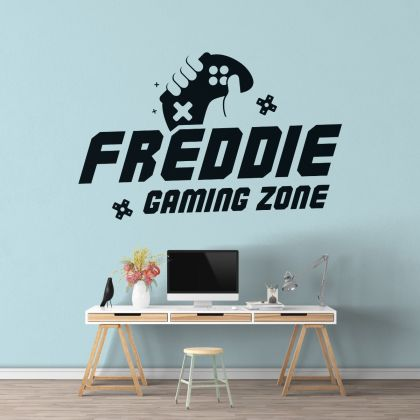 Gamer wall decal Gaming Zone Eat Sleep Game Controller video game wall decals Customized For Kids Bedroom Vinyl Wall Art Decals