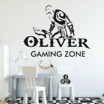 Gamer wall decal Gaming Zone Customized For Kids Bedroom Vinyl Wall Art Decal