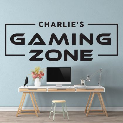 Gaming Zone wall decals Customized For Kids Bedroom Vinyl Wall Art Decals