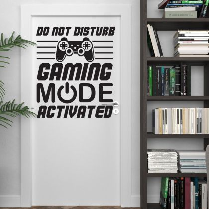 Gaming Mode Activated Wall Stickers For Kids Bedroom