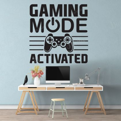 Gaming Mode Activated Wall Stickers For Kids Bedroom Decals