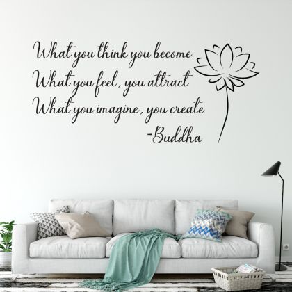 Buddha Wall Art Decal Yoga Wall Art Decal
