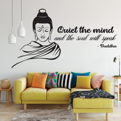 Buddha Wall Art Decal for Yoga Wall Art Decal