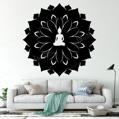 Wall Decal Buddha Statue Wall Art