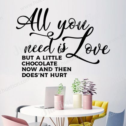 All you need is Love Kitchen Wall Stickers for Kitchen Quote Wall Decals