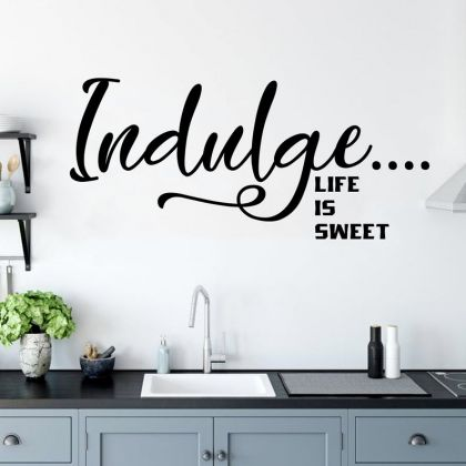 Life is sweet Kitchen Wall Stickers for Kitchen Quote Wall Decals