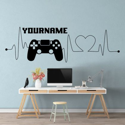 Gamer wall decal Eat Sleep Game Controller video game wall decals