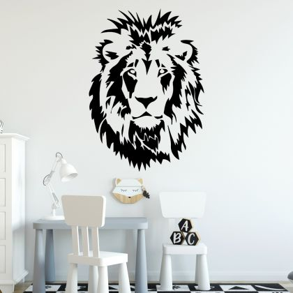 Lion Wall Decal Lion Face Vinyl design Wall Stickers