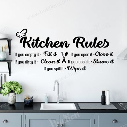 Kitchen Rules Wall Art for Kitchen wall stickers