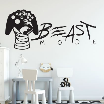 Beast Mode Gamer wall decal Gaming