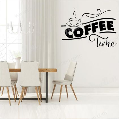 Coffee Time Kitchen Wall Art for Kitchen wall stickers