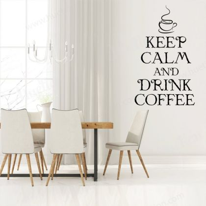 Keep Calm and Drink Coffee Decals for Kitchen Wall Stickers