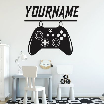 Xbox Gamer wall decal eat sleep game controller wall art For Kids Bedroom