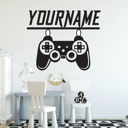 PS Controller Gamer wall decal eat sleep game wall art
