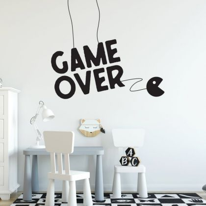 Game Over wall decal For Kids Bedroom
