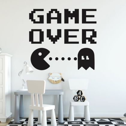 Game Over wall decal Gaming Zone wall decals For Kids Bedroom