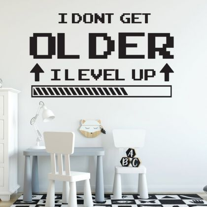 I Level Up wall decal Gaming Zone wall decals For Kids Bedroom