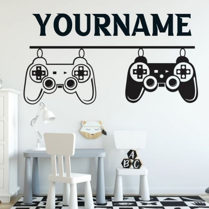 PS Controller Gamer wall decal Gaming Zone wall decals Customized For Kids Bedroom