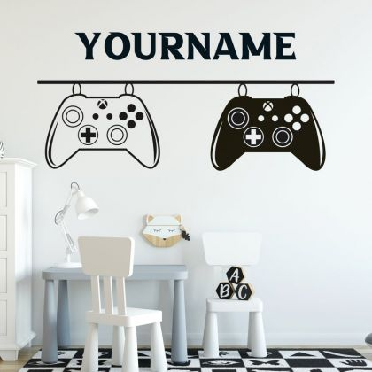 Xbox Controller Gamer wall decal Customized For Kids room