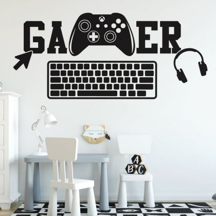 Gamer wall decal Xbox Gaming Zone wall decals For Kids Bedroom