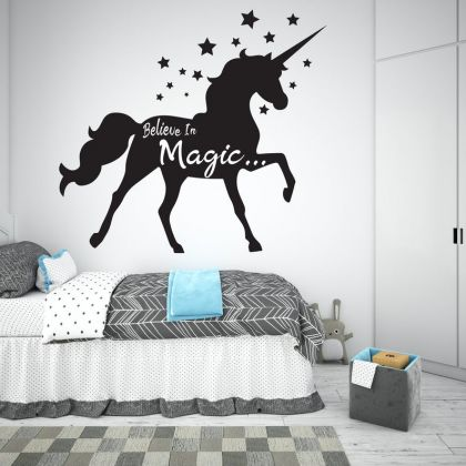 Believe in Magic Unicorn wall decal for Unicorn stickers