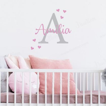 Personalized Girls Name Wall Stickers Children Room Vinyl wall decal