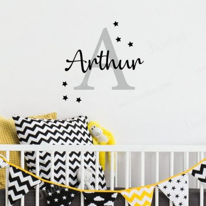 Personalized Girls Name Wall Stickers for Children Room Vinyl wall decal Vinyl Lettering Wall Mural Art