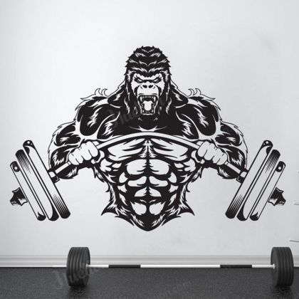 Gym Wall Decal Custom fitness Decor Workout Art Vinyl Stickers